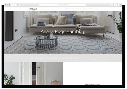 Ariana Rugs Hamburg GmbH Website