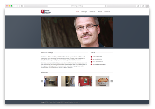 Bernd Ranzau Möbel und Montage Website